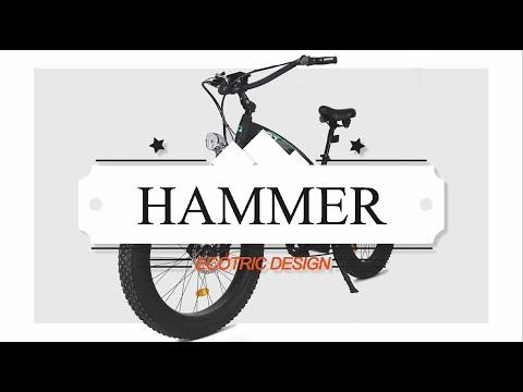 The Powerful Ecotric Hammer Bike—Matt Black!