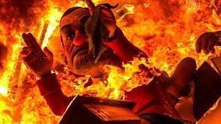 Валенсия празднует ежегодный Фестиваль огня