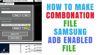 How to Make FRP Bypass ADB Enabled Combination Firmware