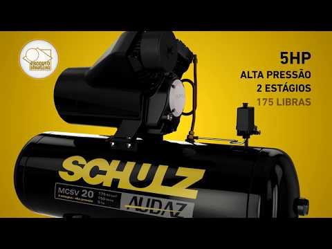 Compressor de Ar Audaz MCSV 20/200 Schulz - Trif. 220/380V - Vídeo explicativo