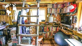 TEENAGER Builds OFF-GRID TINY HOUSE (80% Recycled Material)