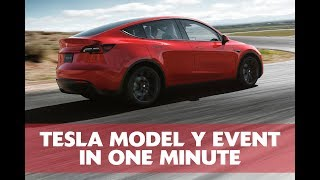 Tesla Model Y Unveiling event in one minute