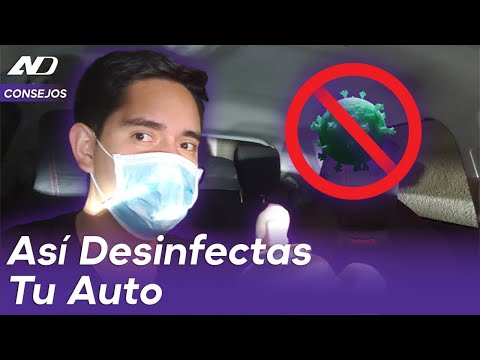 """¿Cómo desinfectar tu automóvil"""" - AutoDinámico"""