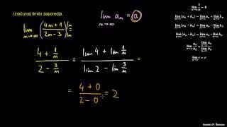 Računanje limite zaporedja 1
