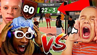 GOING UNDERCOVER AS A 60 OVERALL PURE SHARP GOD! DROPPED OFF BY A TRASH TALKING 10 YEAR OLD!