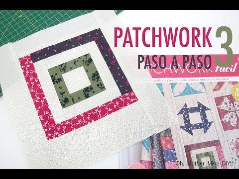 Aprende la tecnica del Patchwork paso a paso 3: LOG CABIN