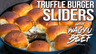 Truffle Burger Sliders (with Wagyu Beef!) | SAM THE COOKING GUY 4K