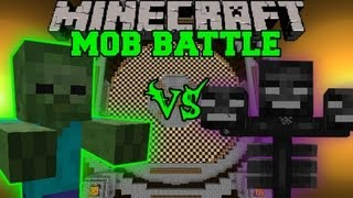 GIANT ZOMBIE VS WITHER BOSS - Minecraft Mob Battles - Arena Battle