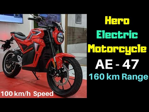 Hero Electric AE-47 Motorcycle Unveiled at Auto Expo 2020