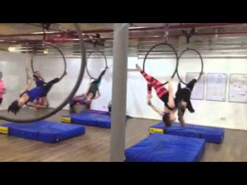 Aerial hoop class routine Stockport