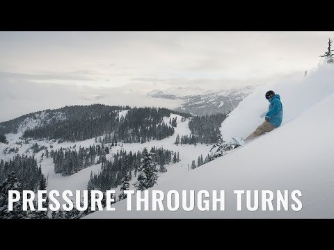 Pressure Through Turns On A Snowboard
