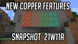 Minecraft 1.17: NEW Copper Features! - Waxing & Oxidation (Snapshot 21w11a)