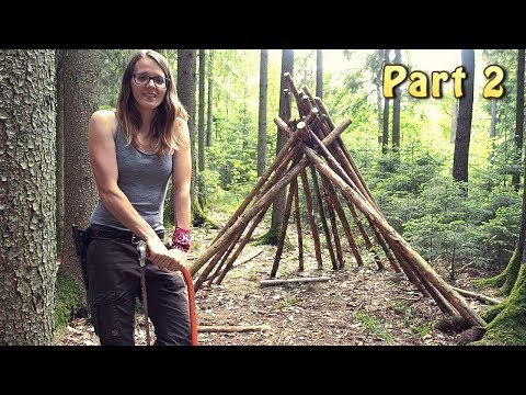 Building A Tepee In The Woods (Part 2)