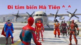 GTA V Mod - Spiderman, Batman, Songoku, Iron-man