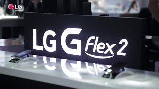 LG G Flex 2 Curved Smartphone at CES 2015 (Official)