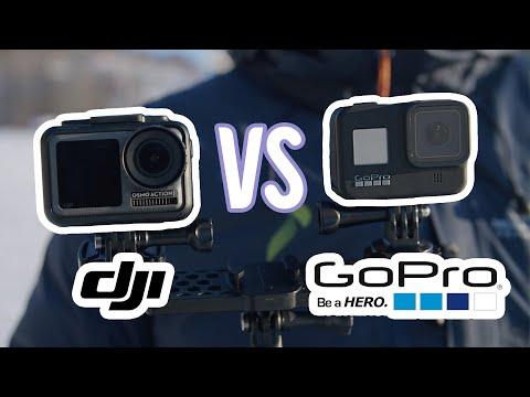 GoPro HERO8 vs. DJI Osmo Action - Split Screen Comparison