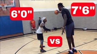 "Bone Collector vs 7'6"" NBA Player!"
