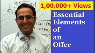 Essential Elements of an offer (Part -1)