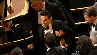 Rami Malek Falls Off 2019 Oscars Stage, But He's Still Celebrating!