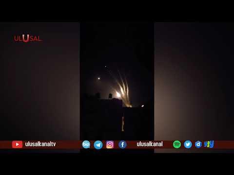 El Kassam Tugayları İsrail'e yüzlerce füze gönderiyor