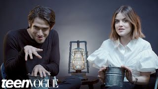Lucy Hale and Tyler Posey Play 'Truth or Scare' | Teen Vogue