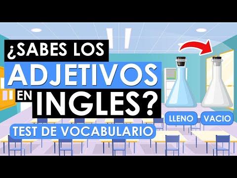 🔵 ¿SABES LOS ADJETIVOS EN INGLÉS? 🤔| TEST DE VOCABULARIO EN INGLÉS ✅