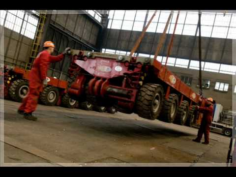 SCS Heavy Lifts & Transports moving and installing a 500to shiplift