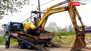 Excavator Videos for Children Trucks for Kids | Help children eat with good appetite