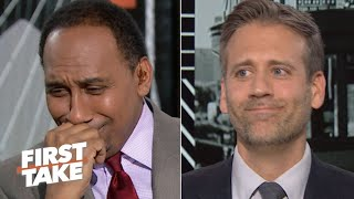 'Max got me on this one' – Stephen A. can't defend LeBron over Kawhi | First Take