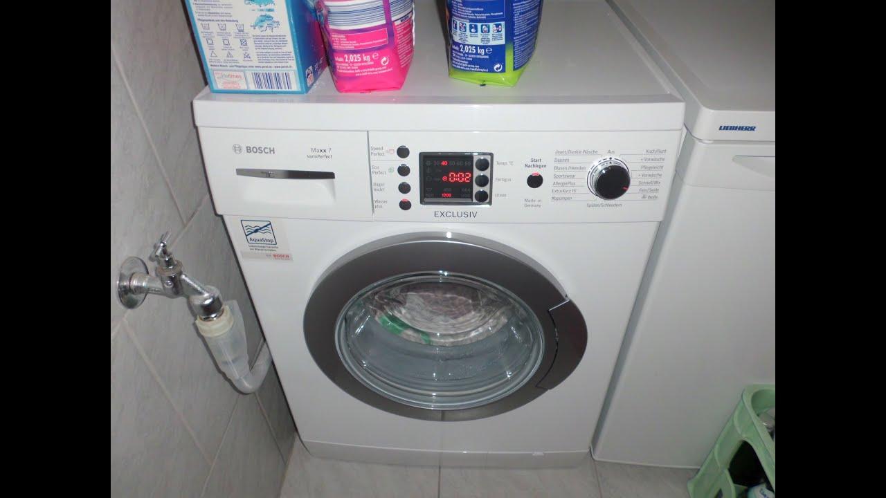 bosch maxx 7 exclusiv varioperfect wae28496 waschmaschine. Black Bedroom Furniture Sets. Home Design Ideas
