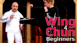 Wing Chun for beginners lesson 46: Block, cover and hit (Pad work)