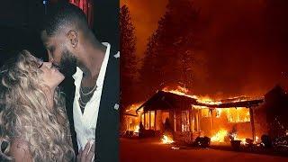 Khloe Kardashian & Tristan Closer Than EVER After Emergency Evacuation From California Fires