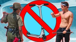 SCOOTERS BANNED FROM NYC SKATEPARKS!? *Cops Called*