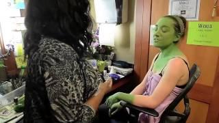 """Wicked star Laurel Harris gets """"greened"""""""