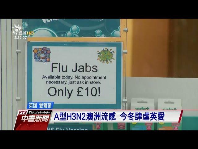 兩種流感肆虐英國及愛爾蘭 一週奪48命