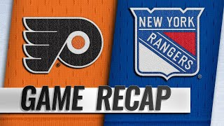 Lindblom, Laughton lead Flyers over Rangers, 6-4