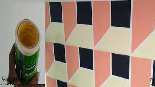 Asian paints masking tape geometric Wall painting 3D design