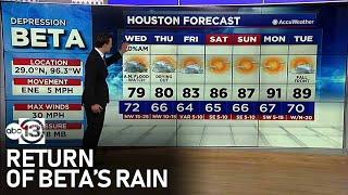5:30 PM UPDATE: Houston area bracing for return of Beta's rain
