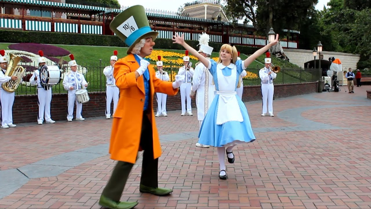 Mad Hatter and Alice Dance to Disneyland Band at Monstrous ...