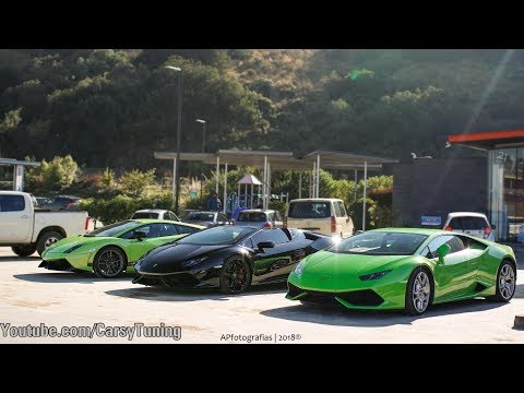Supercars in Santiago Chile Vol 54 - Vanquish Zagato, 650S Le Mans, Huracan Spyder and more!