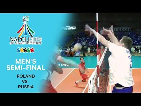 POLAND vs. RUSSIA | Men's Semi-Final | FISU Summer Universiade - Napoli 2019