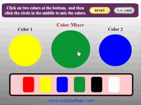 Table online game: Color game youtube