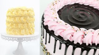 Top 5 Cake Decorating Ideas for beginners with whipped cream   Cake Decorating Compilation