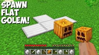New SECRET WAY to SPAWN FLAT GOLEM in Minecraft ! CURSED GOLEM !