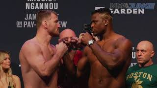 UFC 220: Miocic vs  Ngannou weigh in highlight