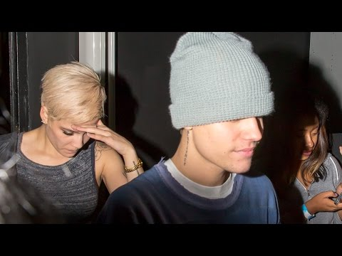 Justin Bieber Leaves AMA Party with Halsey After Selena Encounter!
