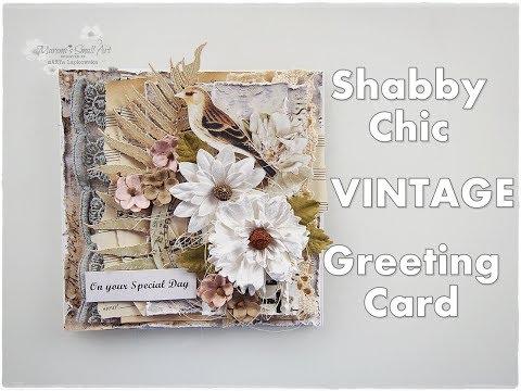 Shabby Chic Vintage Greeting Card Tutorial ♡ Maremi's Small Art ♡
