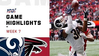 Rams vs. Falcons Week 7 Highlights | NFL 2019
