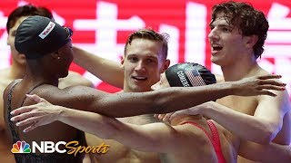 Team USA sets World Record in mixed 4x100m freestyle relay | NBC Sports