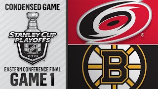 05/09/19 ECF, Gm1: Hurricanes @ Bruins